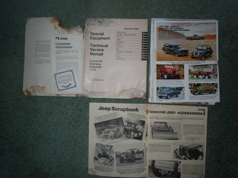 Jeff's 1977 Jeep Cherokee Manuals