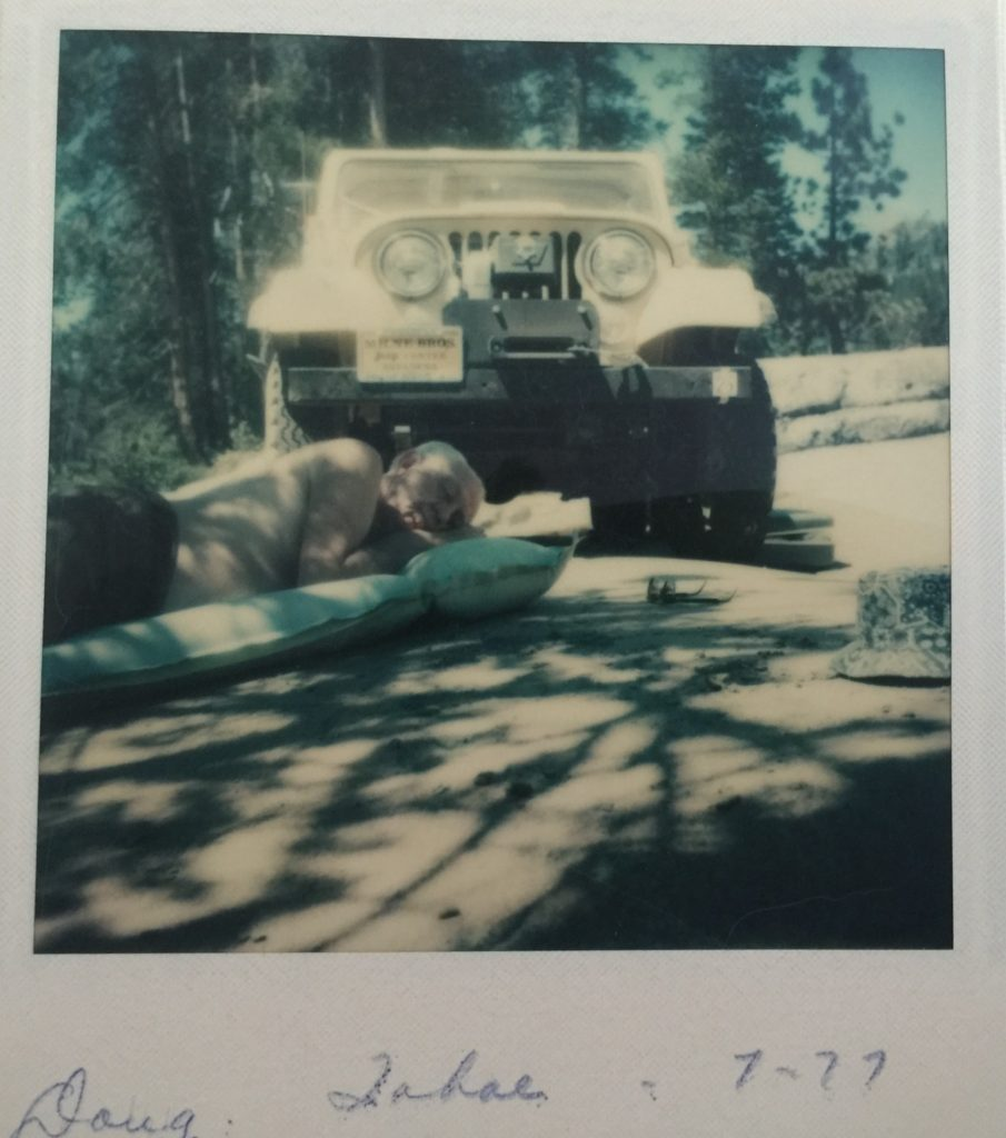 Napping on rubicon trail